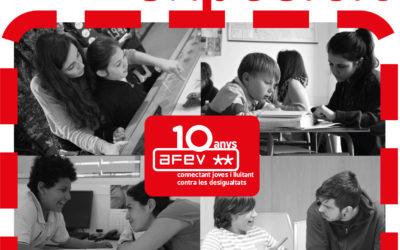 #AFEV10anys: celebrem una dècada de lluita contra l'exclusió social!